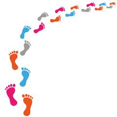 Footprint Black Track
