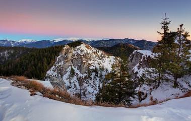Slovakia mountain winter landscape