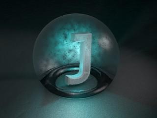 3D Glaskugel J