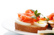 sandwich with egg and salmon
