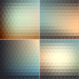 Smooth triangular vintage backgrounds set