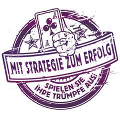Stempel mit Strategie zum Erfolg