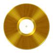 Leinwanddruck Bild - Golden Vinyl Record, Schallplatte