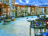 Venice, Italy - Grand Canal and historic tenements poster