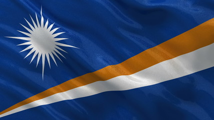Flag of the Marshall Islands waving in the wind - seamless loop