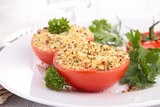 tomato filled with breadcrumbs