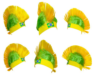 Headgear fan of the Brazilian national team