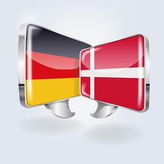Sprechblasen in deutsch und dänisch