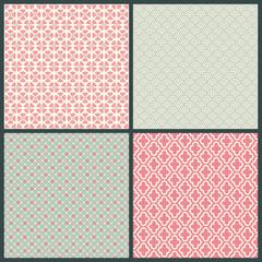 Pattern Retro Green/Rose