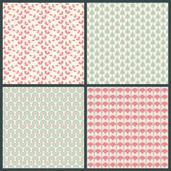 Pattern Set Retro Green/Rose