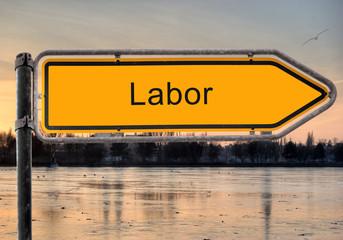 Strassenschild 9 - Labor