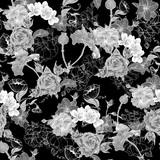 Fototapety Monochrome Background with Flowers