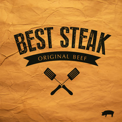 Best Steak  label