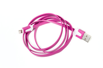 Folded USB cable for smartphone
