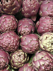 fresh artichokes for sale at vegetable market 1