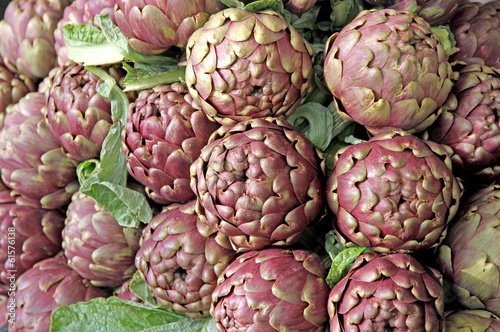 fresh artichokes for sale at vegetable market 5