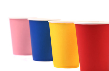 Colorful paper coffee cup.