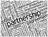 """PARTNERSHIP"" Tag Cloud (contract agreement business projects)"