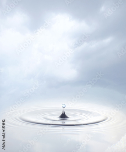 Drop on a water