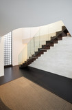 Architecture, beautiful interior of a modern villa, staircase