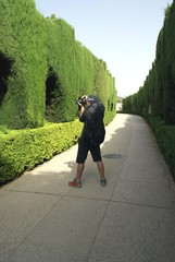 photographer at Alhambra, Granada, Spain