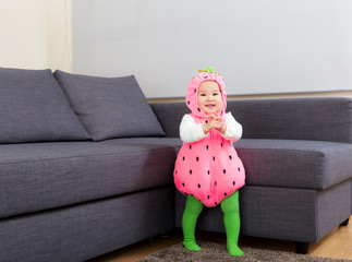 Asia baby with halloween party costume