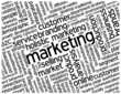 """MARKETING"" Tag Cloud (advertising strategy branding promotion)"
