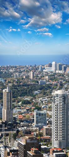 Sydney skyline, aerial view