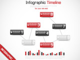 INFOGRAPHIC TIMELINE GRAPHIC RED