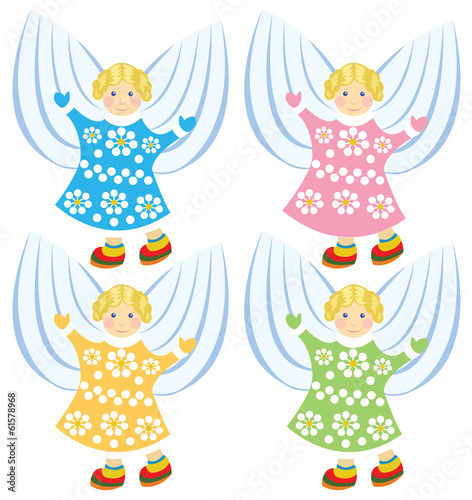 vector cartoon angels
