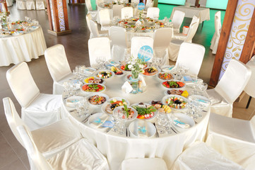 Decorated Round Table
