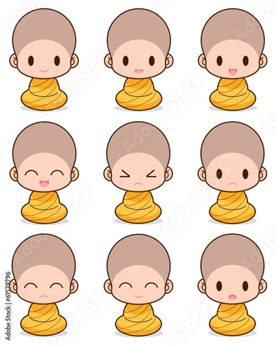 Facial expression of the buddhist Monk