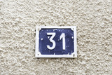 Number thirty-one on a wall