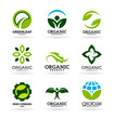 Icons of organic products and ecology. Eco icons (12)
