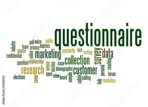 Questionnaire word cloud