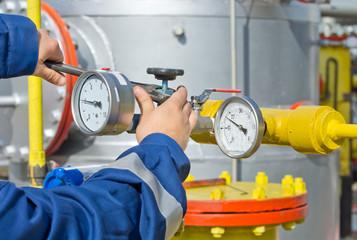 Worker in oil industry