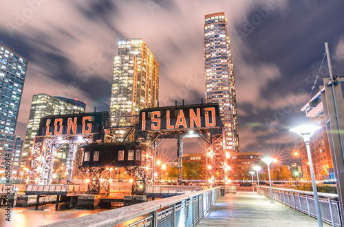 Pier of Long Island near Gantry Plaza State Park - borough of Qu