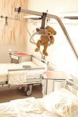 Krankenhaus Bett Galgen Teddybär