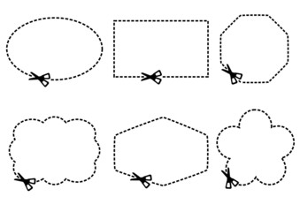 scissors cutting shape borders