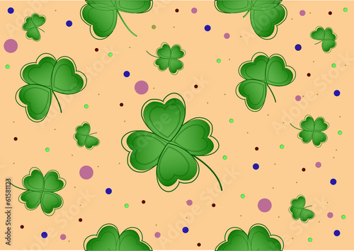 Nice geen lucky clover  for patrick's day