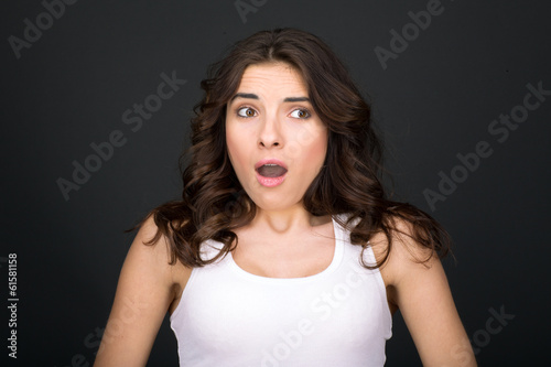 Woman surprised