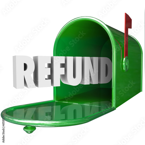 Refund Word Receive Money Back Mailbox Delivery Tax