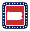 Pennsylvania state button