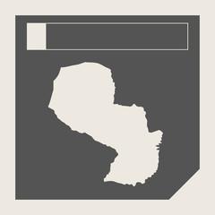 Paraguay map button