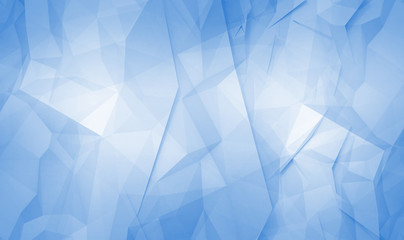 Abstract blue digital 3d polygonal surface background pattern