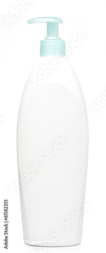 Cream Bath White bottle isolated