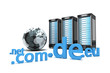 3 Webserver mit Globus und Top-Level-Domains weiss