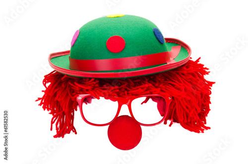 Fotobehang Carnaval clown freigestellt