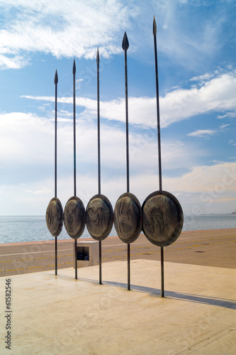 Alexander the Great, Spears of his soldiers, Thessaloniki, Greec