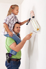 Painting the room with dad